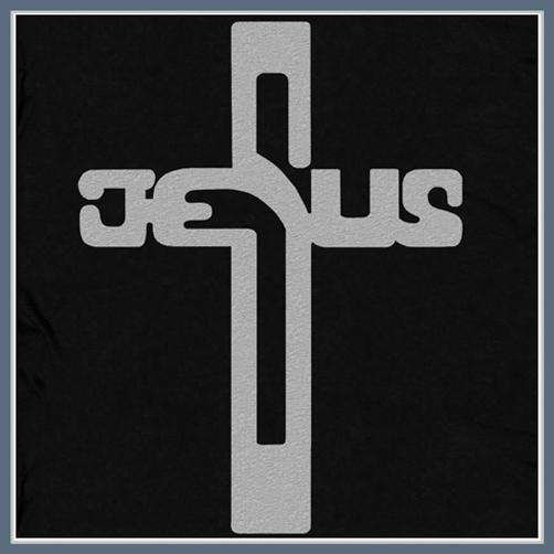 JESUS CHRIST CROSS T SHIRT RELIGIOUS TEES