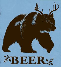 funny deer bear beer T Shirt