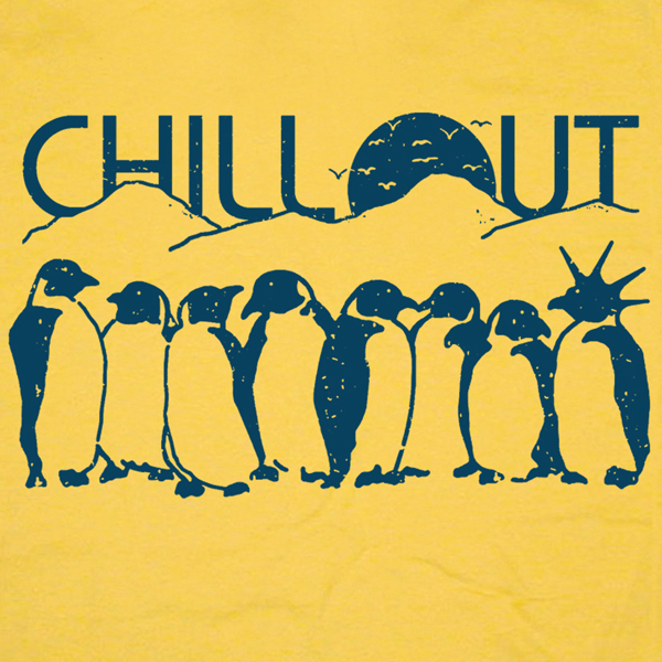 funny chill out penguin T Shirt