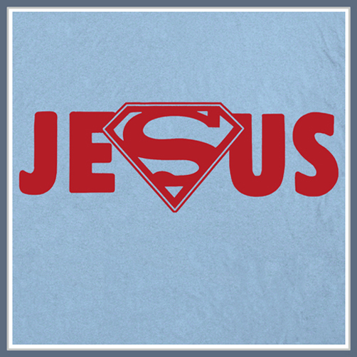 Jesus Superman Logo T Shirt Christian Rock Tee Shirts