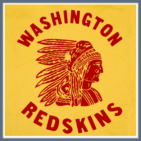 VINTAGE WASHINGTON REDSKINS T SHIRT THROWBACK TEE